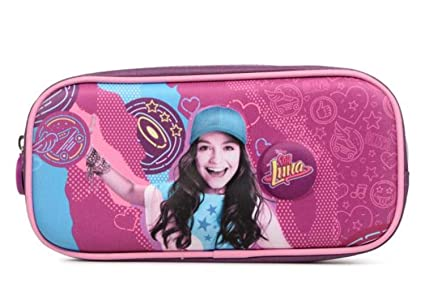 Estuche rectangular soy Luna púrpura 1 compartimento: Amazon ...