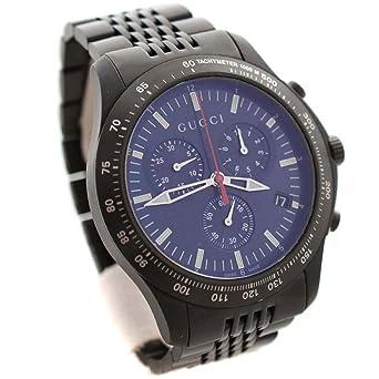 d7001cc758f グッチ GUCCI 126.2 Gタイムレス クロノグラフ YA126259 腕時計 ブラック メンズ クオーツ ブルー文字盤