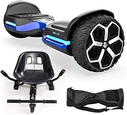 Hoverboard 6.5 inch All Terrain Off Road T581 Hoverboards,with Bluetooth Speaker and App-Enabled, Smart Self Balancing Hover Board and Two-Wheel with UL2272 Certified for Kids and Adults