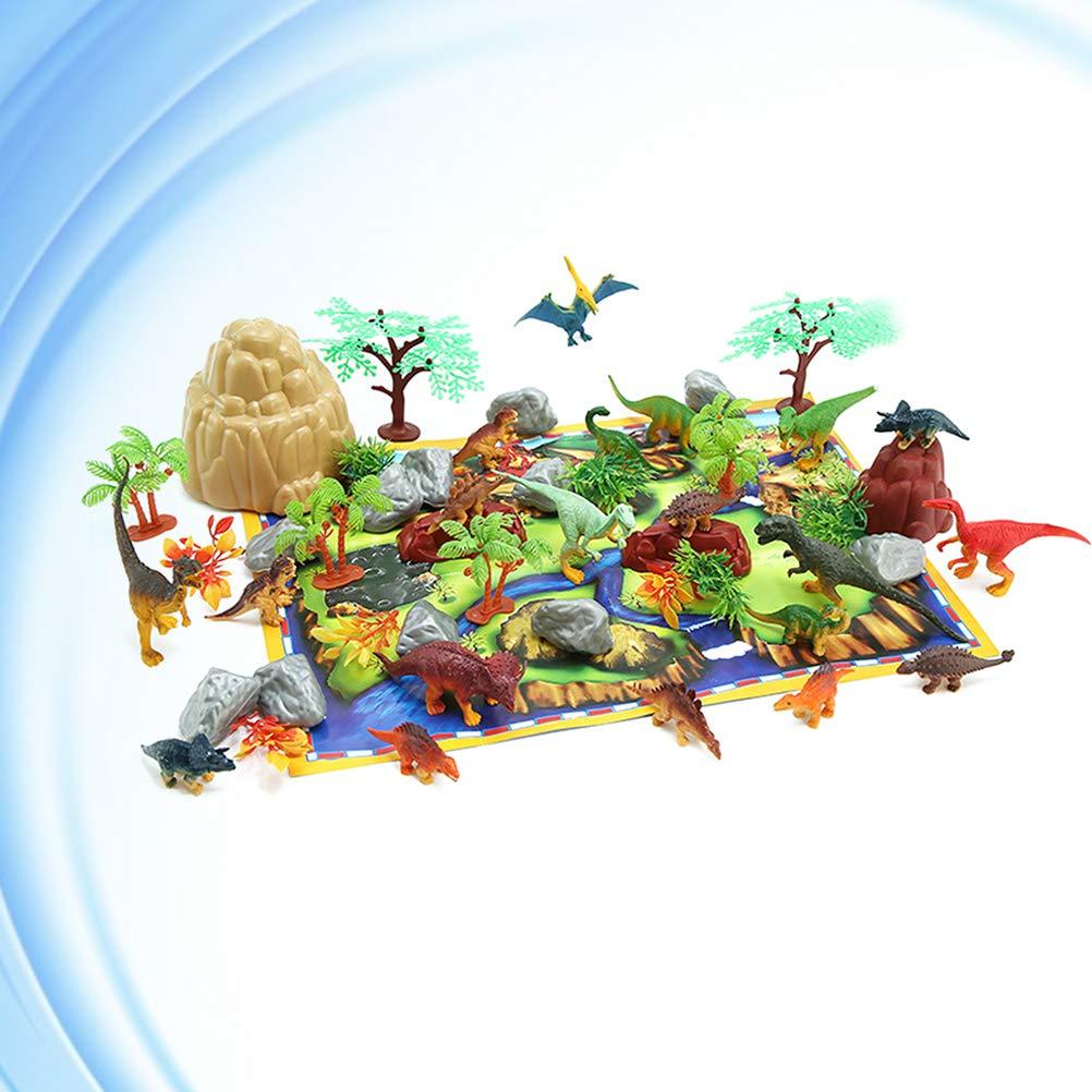 NUOBESTY Mini Dinosaurio Juego de 50 Piezas de plástico ...