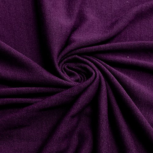 (Hacci Classic Sweater Knit Fabric by the Yard (Eggplant))