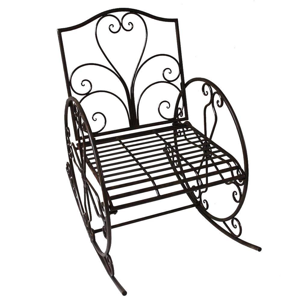 Metal mecedora mecedora Silla de jard/ín muebles de jard/ín Antiguo oxidado