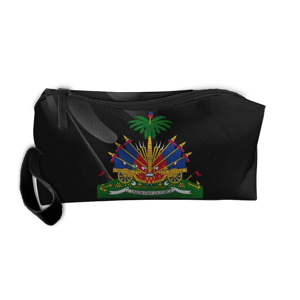 Coat Of Arms Of Haiti Portable Zipper Storage Bag Sewing Kit Medicine Bag Cosmetic Bag For Home Office Travel Camping Sport Gym Outdoor