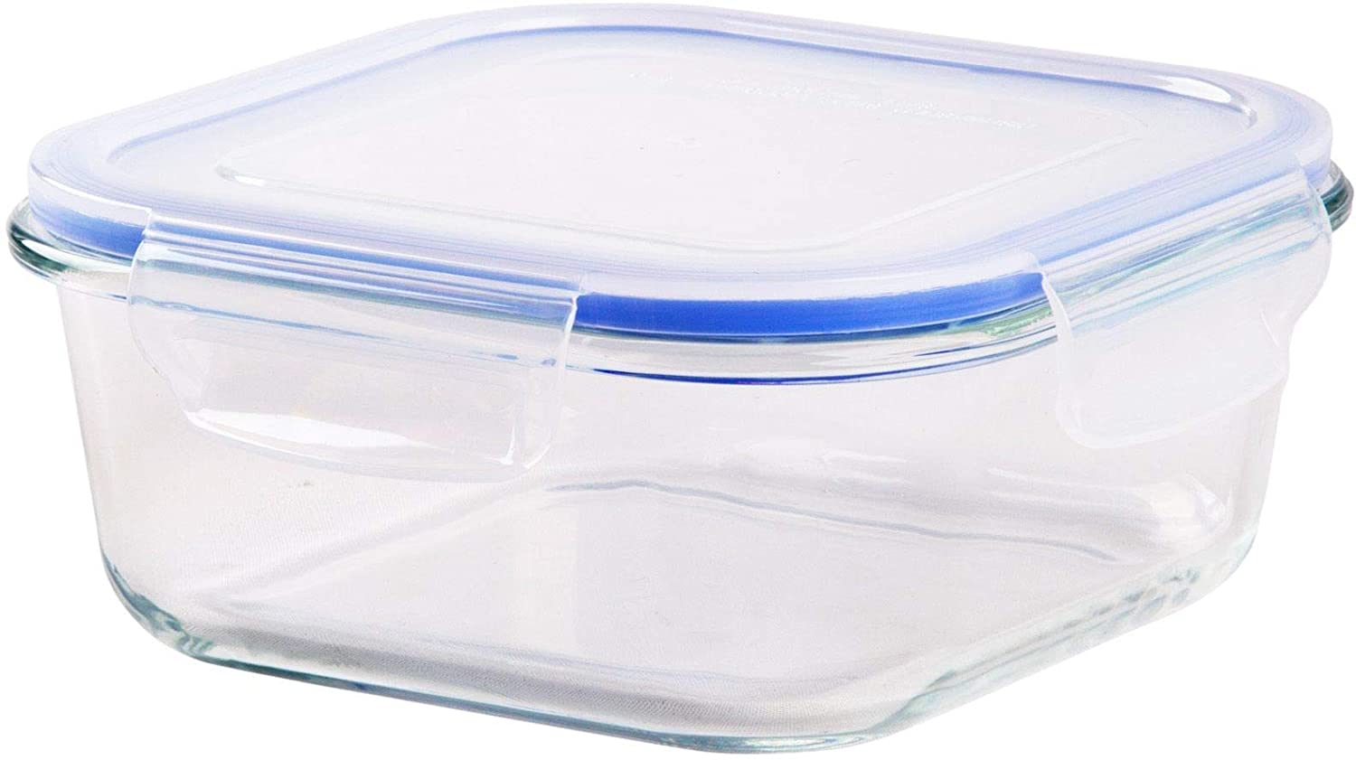 """Palais Glassware Tempered Glass Food Storage and Meal Prep Container with Airtight Lid - Baking Dish (Square, 5.5"""" X 5.5"""" X 2.5"""")"""