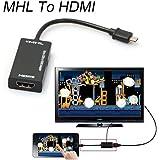 Mini Micro USB 2.0 MHL To HDMI Cable HD 1080P For Samsung Galaxy S7 Smartphone (Color: Black)