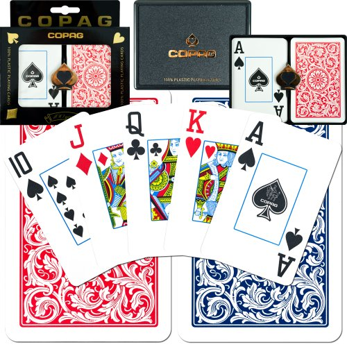 Copag Bridge-Size Jumbo Index Playing Card Set (Pack of 12) by Copag