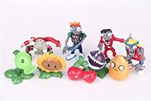 LVEUD 9PCS Plants vs. Zombies Cake Topper, Children Mini Toys Cupcake Toppers for Birthday Party Supplies Baby Shower Halloween Party Supplies - Kids Birthday Decoration(D)