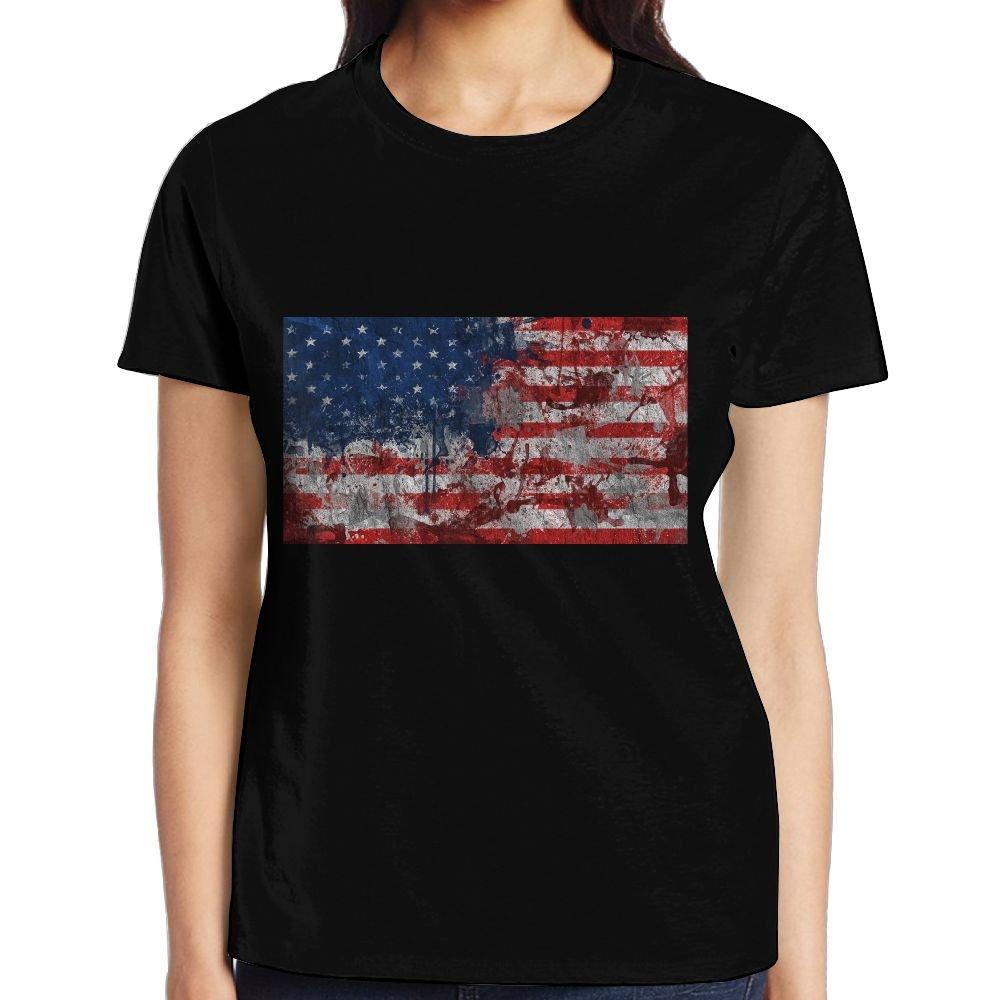 BEAUTYSWIMMING Travel & World USA Flag Woman Loose Tshirt 3D Printed Tees Top Gift Medium