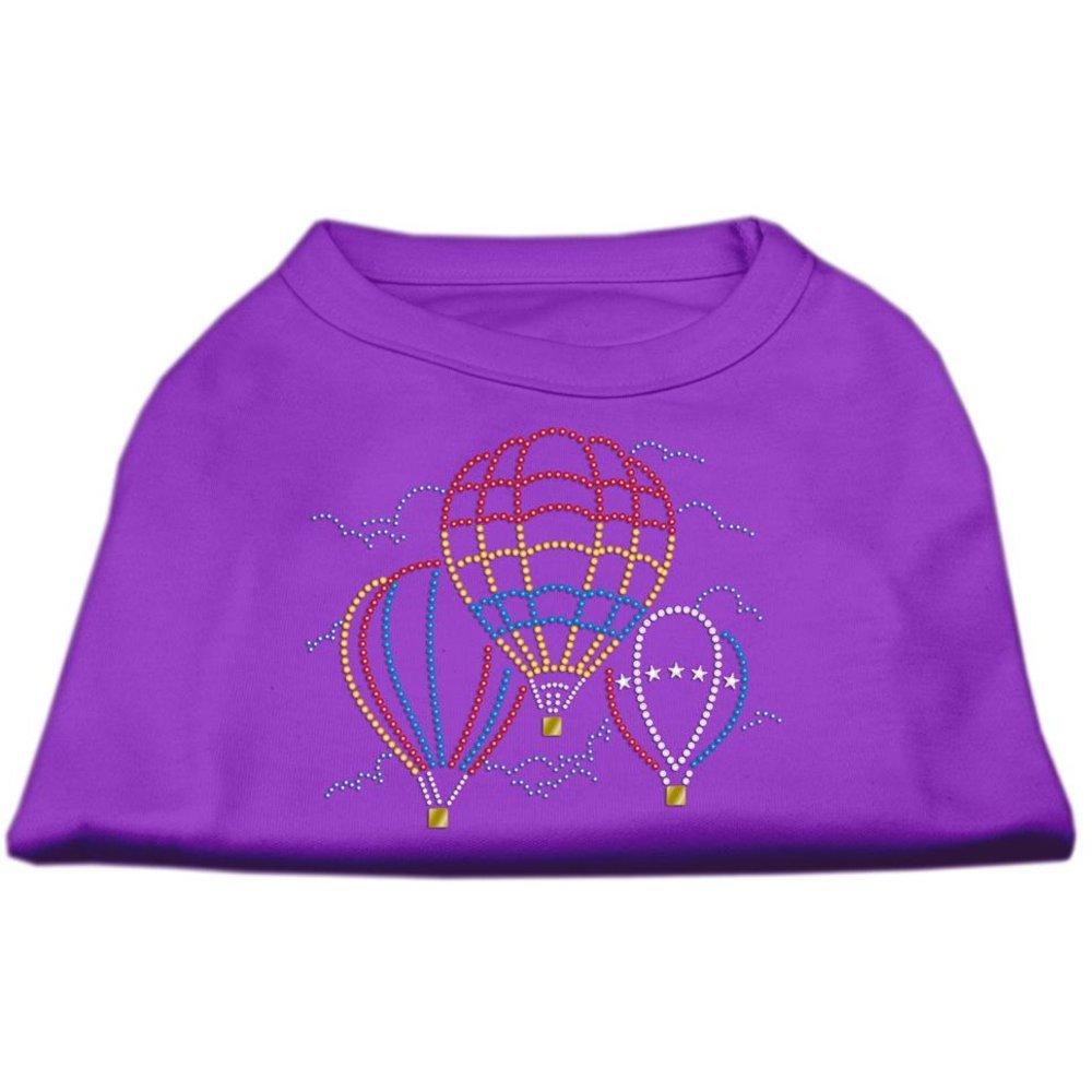 Mirage Pet Products Hot Air Balloon Rhinestone Pet Shirt, X-Large, Purple