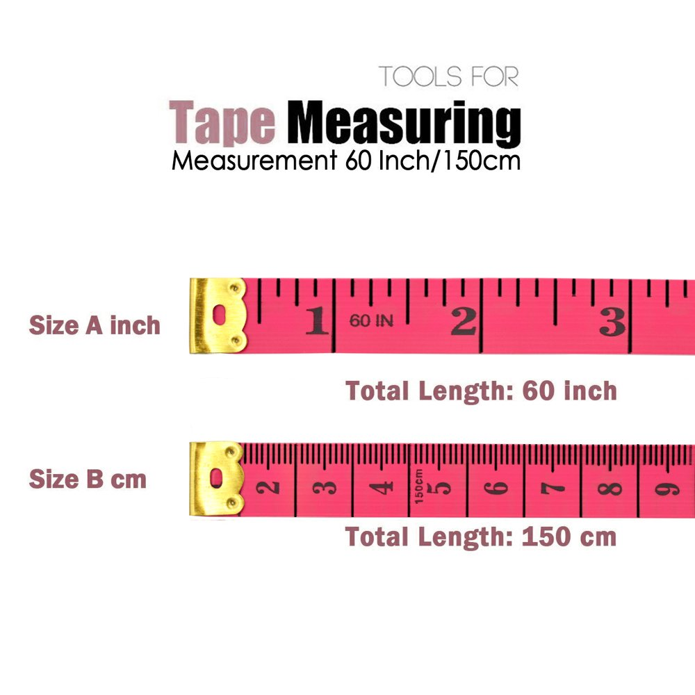 yojoloin 2pcs 60 inches double scale soft tape measure flexible