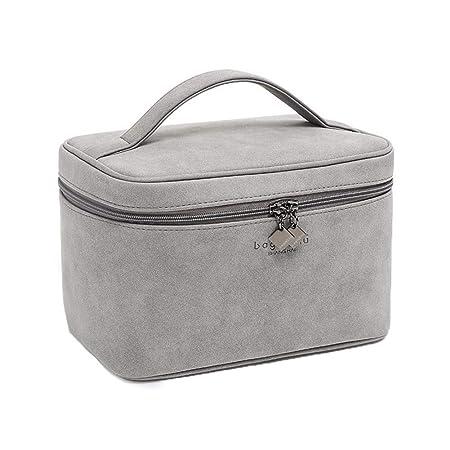 6963cce2406e XIAOJUNJUN Toiletry Bags Gray Cosmetic Bag Pu Portable Cosmetic Case  Cosmetic Storage Box Large Capacity Multi-Function Cute Portable