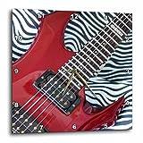 Cheap 3dRose dpp_43774_2 Close Up Red Guitar on Zebra Fur-Wall Clock, 13 by 13-Inch