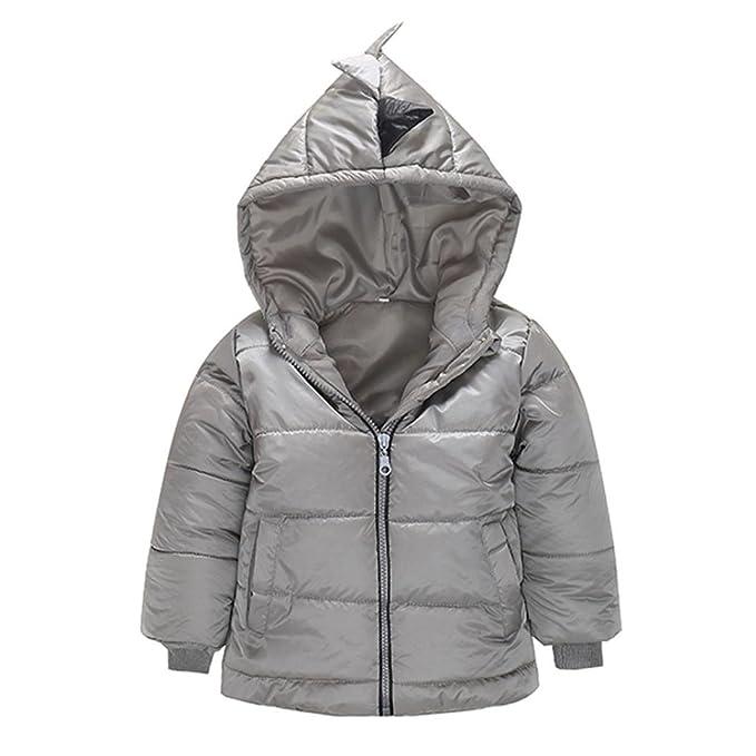Abrigo acolchado para bebé niño en capucha,Yannerr abajo capa gruesa chaqueta otoño invierno cálido