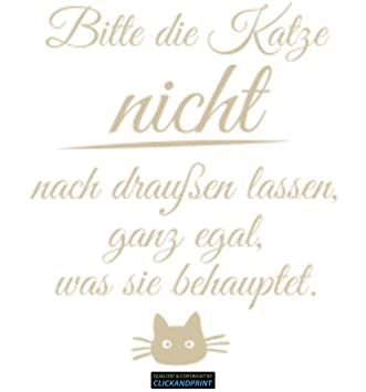 CLICKANDPRINT Aufkleber » Bitte Die Katze Nicht Nach Draußen Lassen...,  80x19,