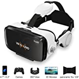 VR Sound Headset (88214A) with Headphone, 3D Glasses Build-in Stereo Headphone Output for 3D Movies/Games for 4.7~6.2 inch iPhone,Samsung,Android Smartphones,Power by ProHT