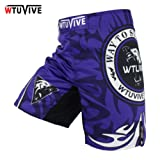 WTUVIVE MMA Men Boxing Wolves Boxing Boxing Shorts Contest Professional Training Trousers Boxing Shorts MMA