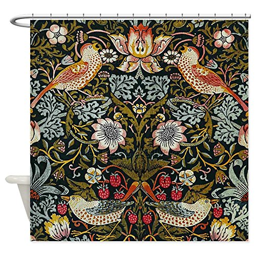 William Morris Iron (CafePress - William Morris Strawberry Thief - Decorative Fabric Shower Curtain)