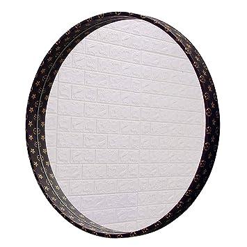 Amazon.com: GJH-Mirror - Espejo decorativo de piel con ...