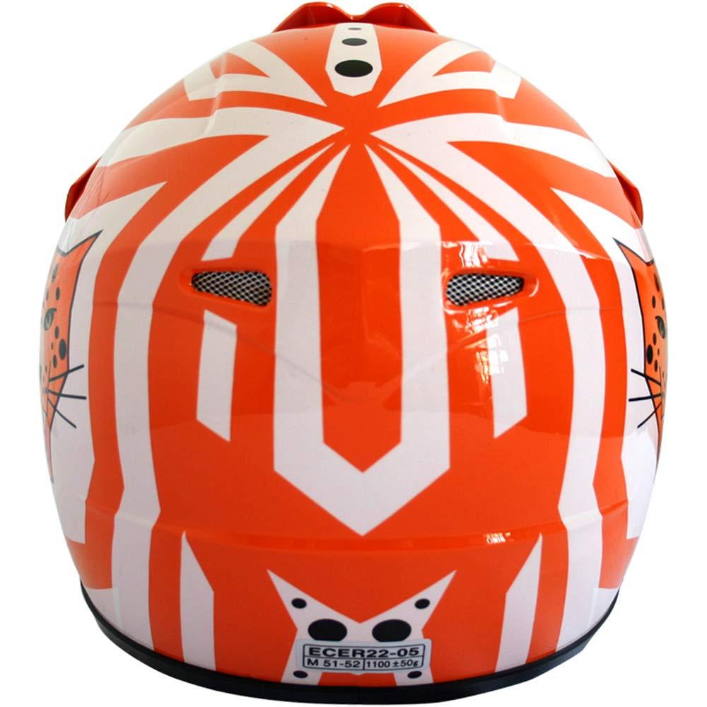 49-50cm Skull S Leopard LEO-X18 Children Motorbike Helmet KIDS Motocross BMX Dirt Bike ATV Helmet