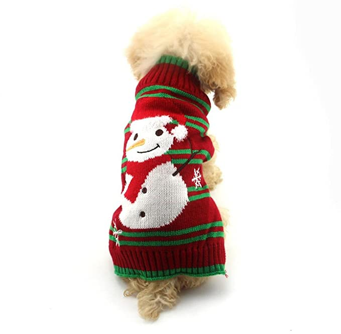 Tongshi Ropa de Navidad muñeco de nieve de Navidad para mascotas ...