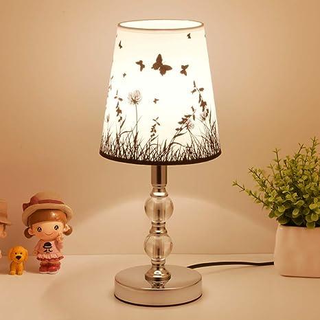 Amazon.com: TDFOE Lámpara de mesa de cristal para mesita de ...