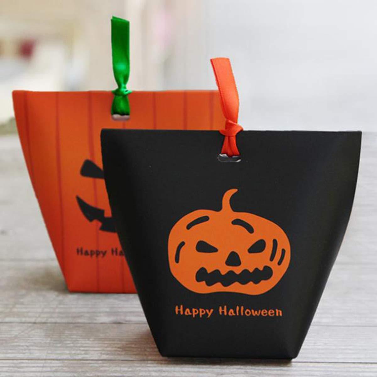 20pcs Bolsa de Caramelos Peque/ño Bolsas Regalo Bolsas de Papel para Fiesta de Cumplea/ños de Pascua de Halloween Zuzer Bolsa de Dulces de Halloween