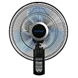 nice covered patio design ideas pictures Hurricane Mount 16 Inch | Super 8 | Wall Fan with Figure 8 Pattern Technology, Remote Control Included, 3 Speed, 3 Oscillating Settings-ETL Listed, Black