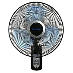Hurricane Super 8 Digital Oscillating Wall Mount Fan produces a figure 8 pattern for better and more uniform air circulation. Program precise fan movement patterns to fit any application. Includes speed control, 6 hour increment timer and osc...