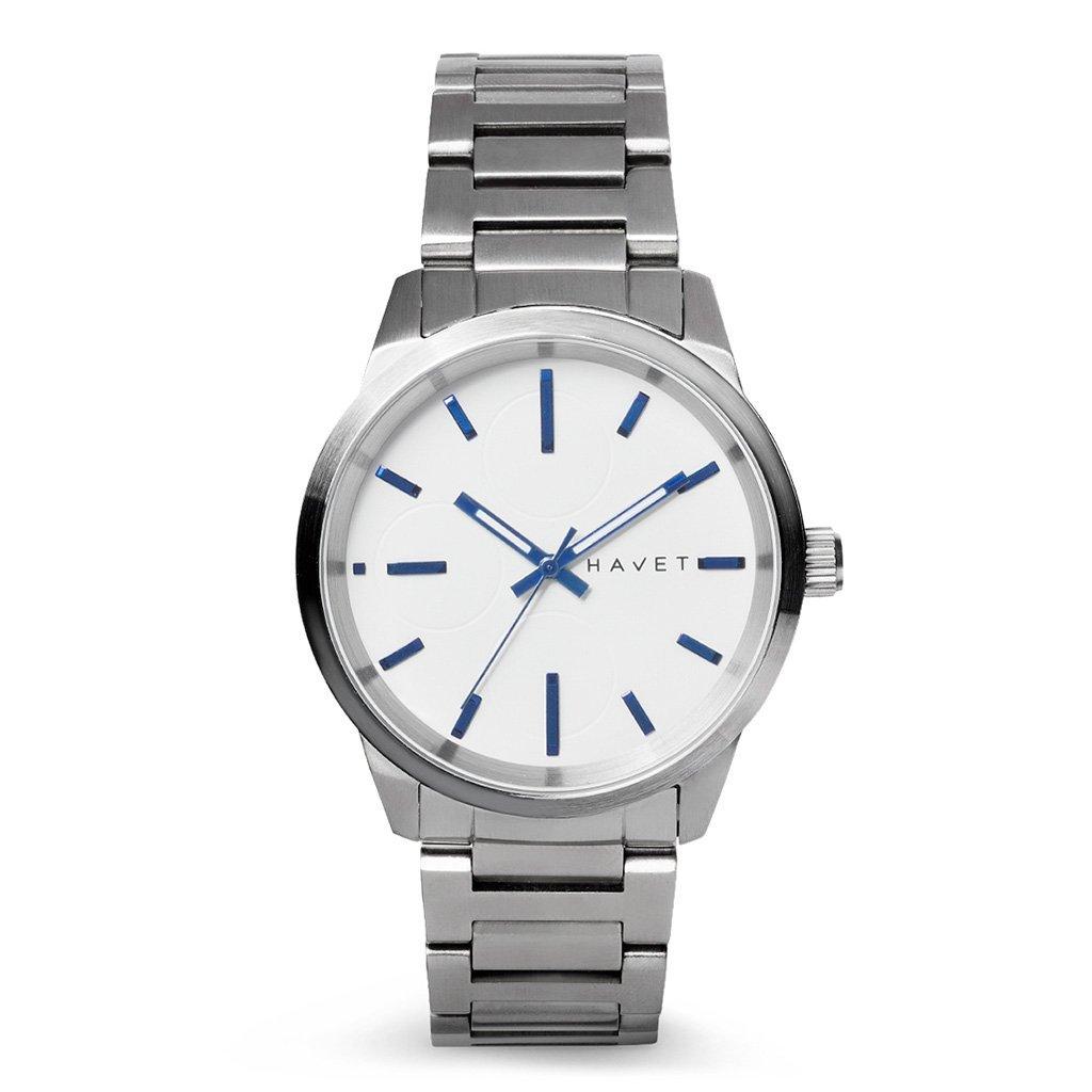 HAVET | Reloj de hombre Nevis de acero con brazalete de eslabones: Amazon.es: Relojes
