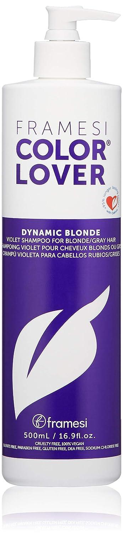 FRAMESI Color Lover Dynamic Blonde Violet Shampoo, 16.9 fl oz