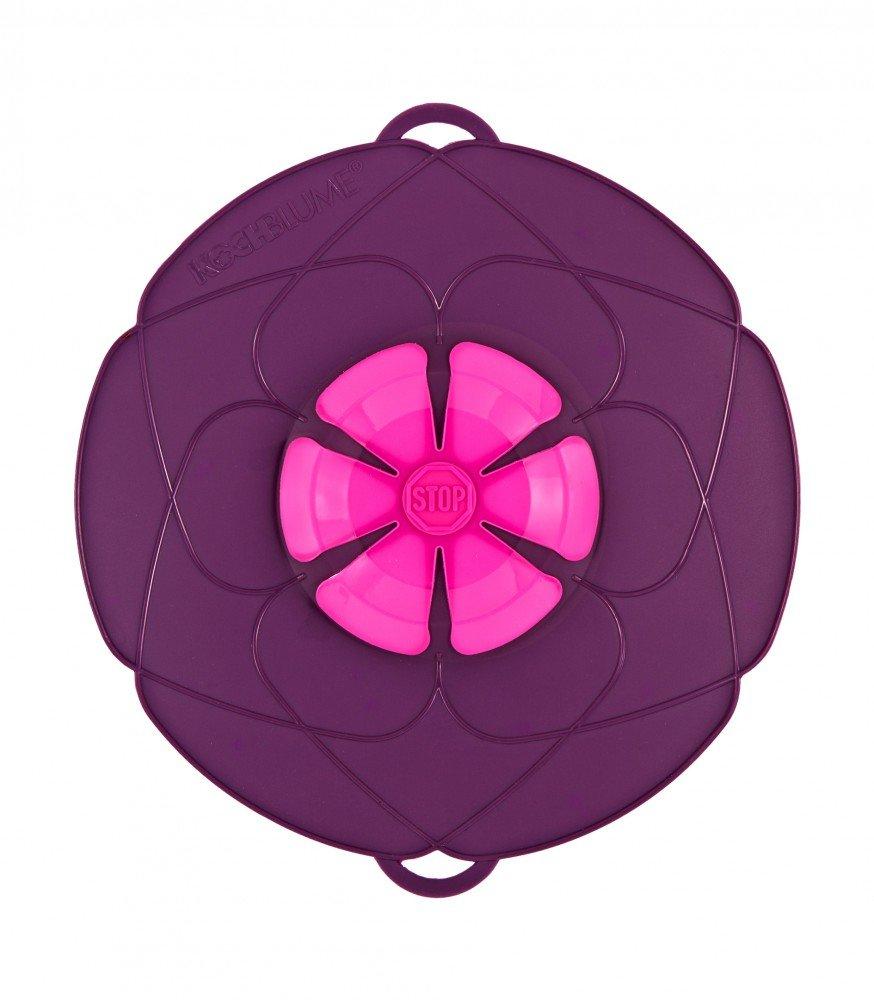 Bunte Kochblume Überkochschutz purple mittel - Ø 29,0 cm