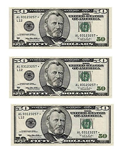 (1/2 Sheet - 50 Dollar Bills Casino Birthday - Edible Cake/Cupcake Party)
