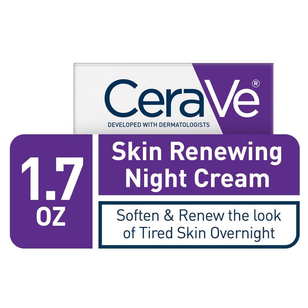 CeraVe Skin Renewing Night Cream - Multipurpose Night Cream, Face Moisturizer, Anti Aging Face Cream & Wrinkle Cream – Moisturizer for Face w Hyaluronic Acid & Niacinamide, 1.7 oz by CeraVe (Image #4)