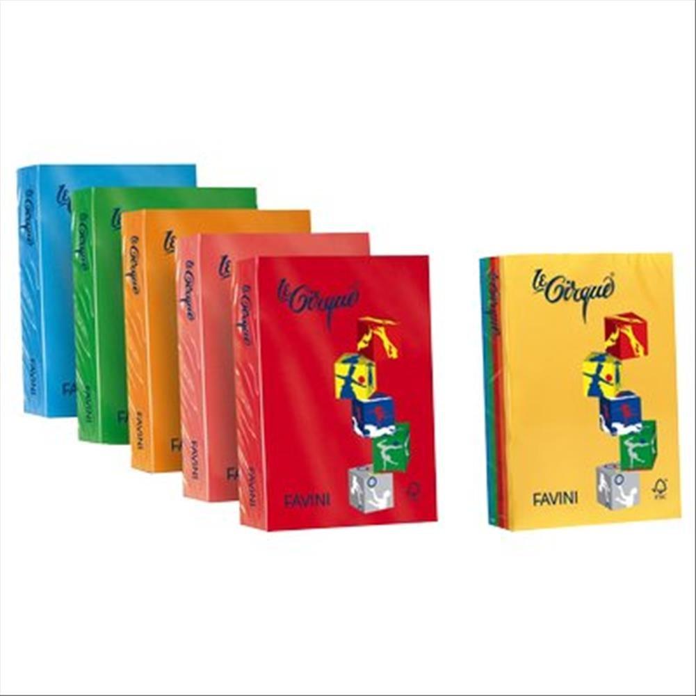 Favini A747304 Le Cirque Carta Colorata 250 Pezzi