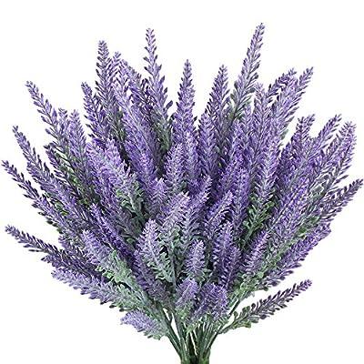 Gtidea Artificial Lavender Bouquet in Purple Flowers Arrangements Bridal Home DIY Floor Garden Office Wedding Decor