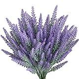 Gtidea 4pcs Artificial Lavender Bouquet in Purple Flowers Arrangements Bridal Home DIY Floor Garden Office Wedding Decor