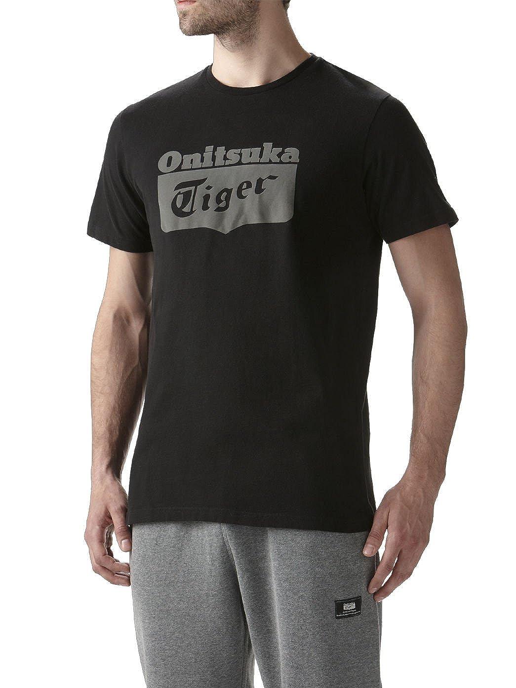 Onitsuka Tiger SS Logo Tee T Shirt Biking Red