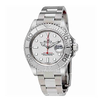 5524d7cae30 Image Unavailable. Image not available for. Color  Rolex Yacht-Master  Platinum Dial Steel and Platinum Mens Watch 116622PLSO