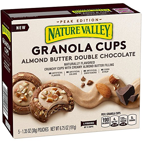 Nature Valley Peak Edition Granola Cups 6.2oz (Almond Butter Double Chocolate) (Nature Valley Peak Edition Almond Butter Granola Cups)