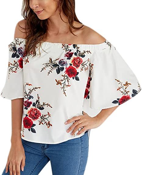 In Dimensioni da donna LOOSE Long Sleeve One off spalla Camicetta Baggy Batwing Top
