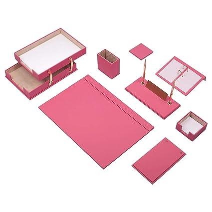 Mira 10 piezas vade Juego de escritorio de piel sintética de alta ...