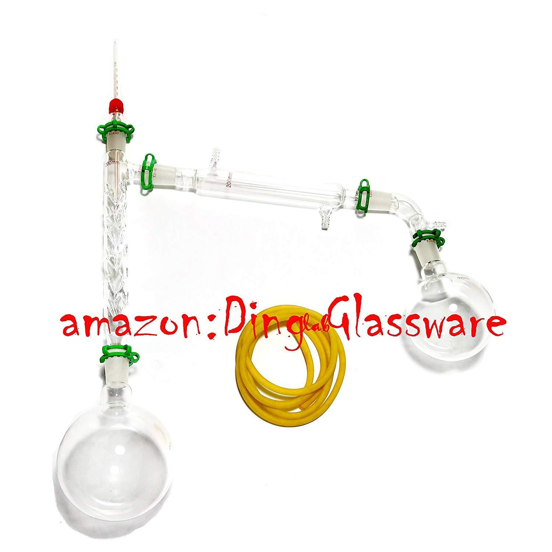Dinglab,1000ml Chemistry Lab Distillation Apparatus,Vigreux Column,Vacuum Kit,24/40