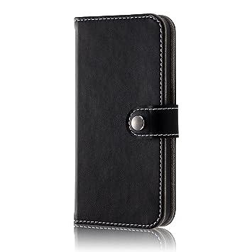 5b05a17ce4 レイ・アウト iPhone SE / iPhone5s / iPhone5 ケース 手帳型 シンプル ブラック RT-