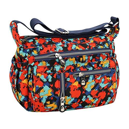 Purse Body Bag Map Messenger Shoulder Girls Orange Handbag Cckuu Cross Women Tote Hobo Bag w1nPX