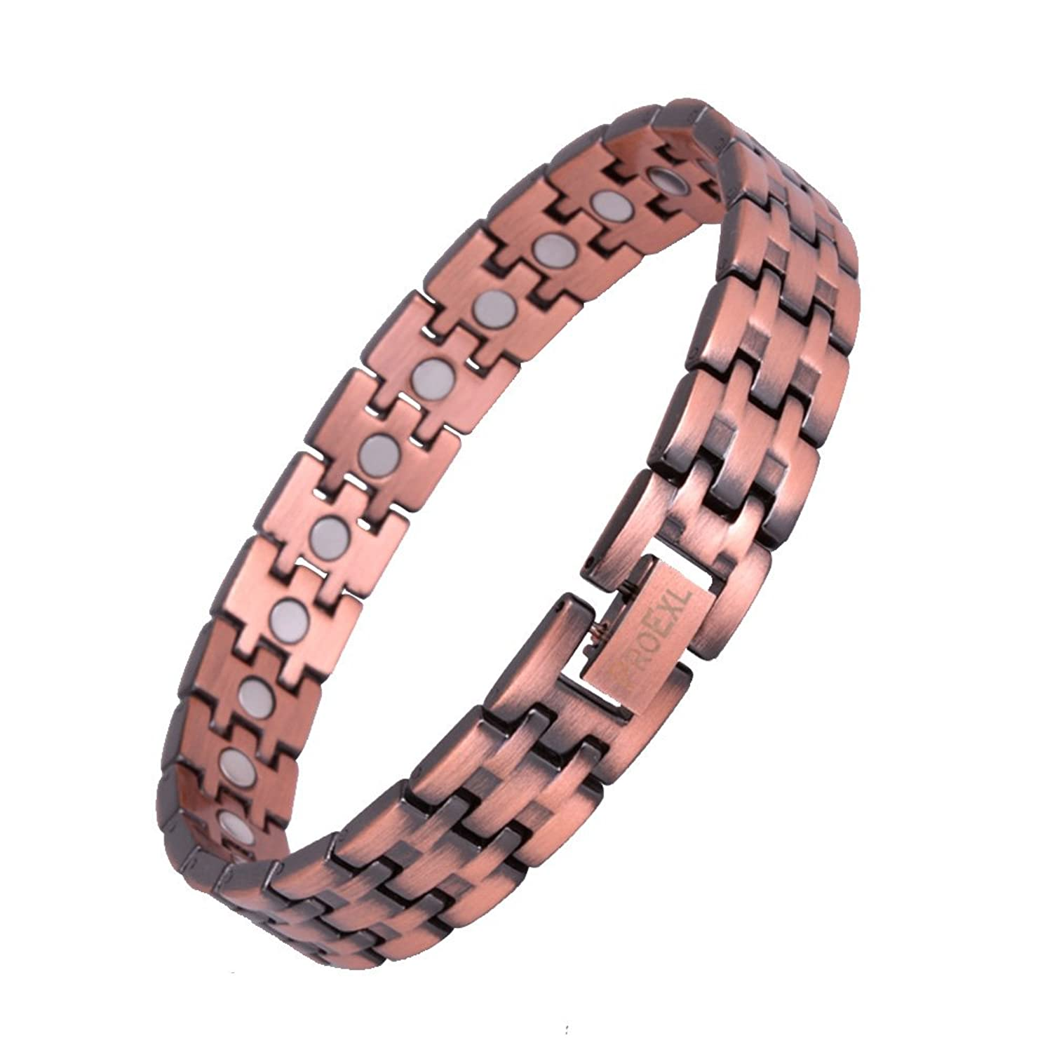 Sufferers wear copper jewelry in the hopes of easing symptoms - Amazon Com Proexl Mens Magnetic Pure Copper Bracelet Toro With Magnets For Arthritis Pain Relief 7 50 Jewelry