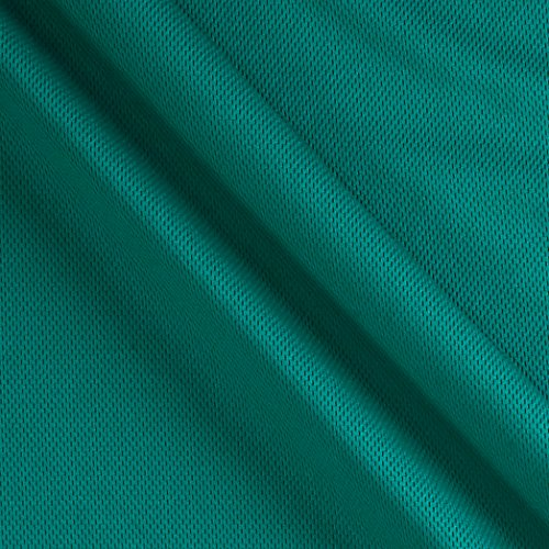 (Textile Creations 0319340 Athletic Mesh Knit Teal Fabric by the Yard)