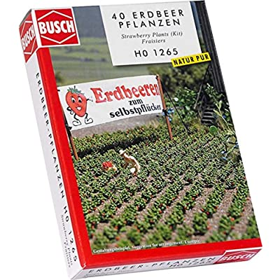 Busch 1265 Strawberry Plants 40/ HO Scenery Scale Model Scenery: Toys & Games