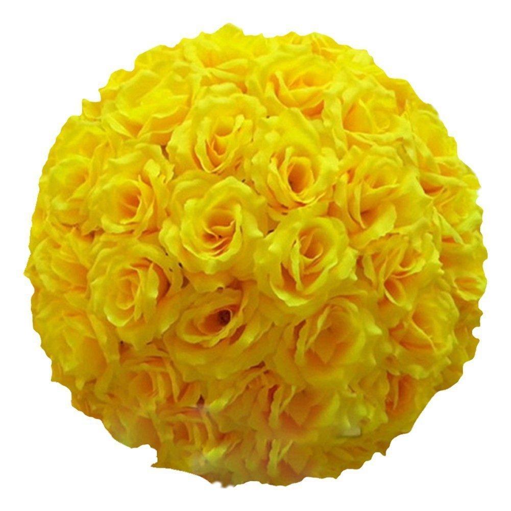 Amazon.com: Ben Collection Fabric Artificial Flowers Silk Rose ...
