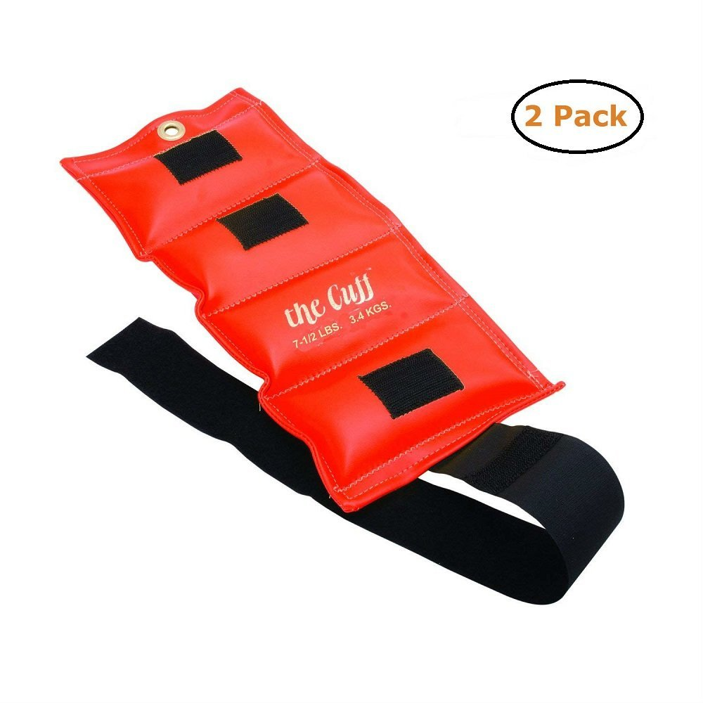 Fabrication The Cuff Original Ankle and Wrist Weight - 7.5 lb - Orange - Pack of 2