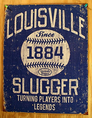 Louisville Slugger - Blue Tin Sign 13 x 16in